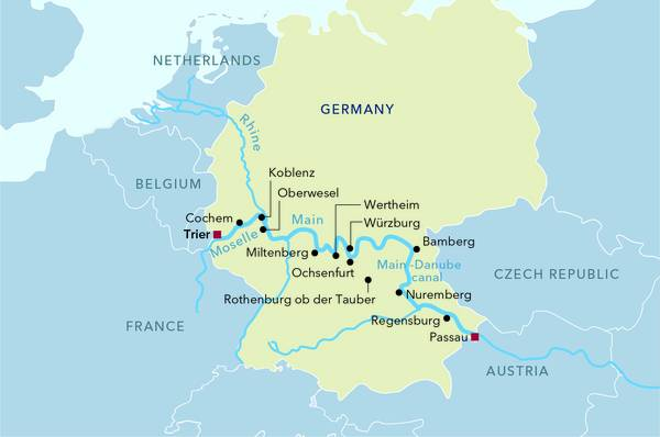 Luftner Cruises River Cruises In Europe German Riverscapes From